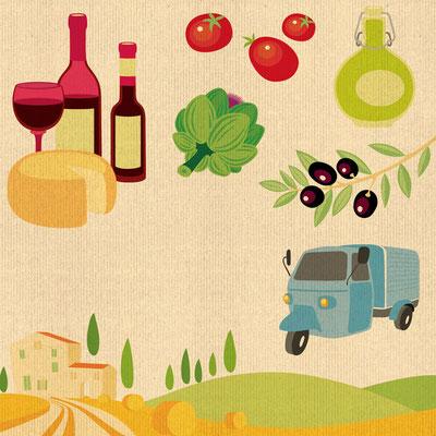© Illustration für Casa Toscana / Ferienhausvermittlung