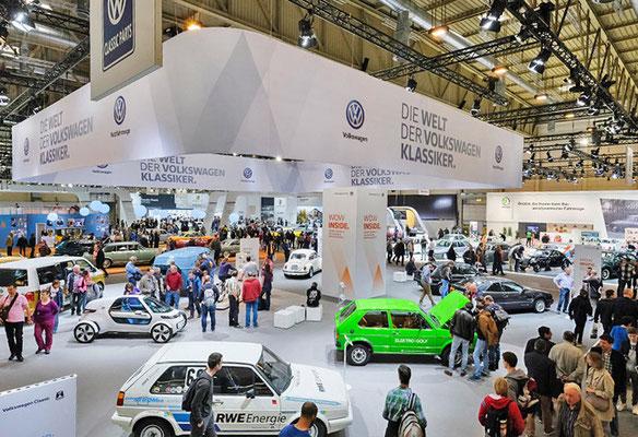 VW CLASSIC Messestand Techno Classica, Übersicht 4