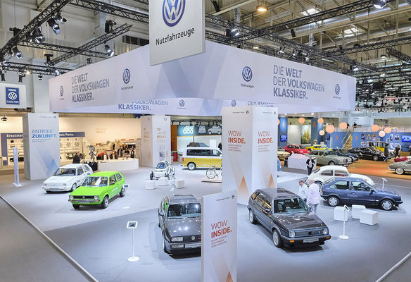 VW CLASSIC Messestand Techno Classica, Übersicht 1