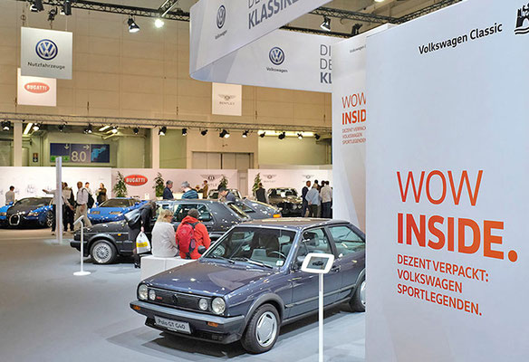 VW CLASSIC Messestand Techno Classica, Wow Inside
