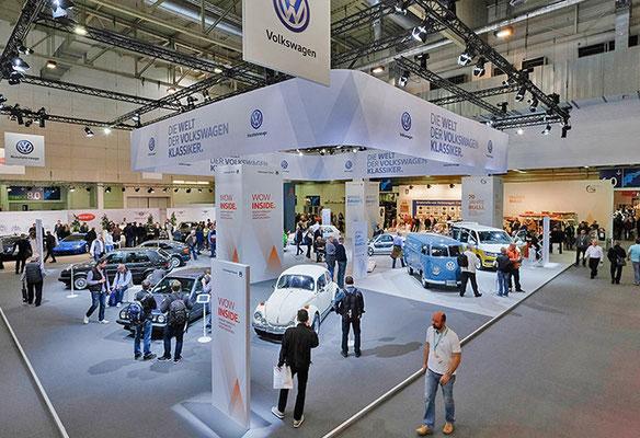 VW CLASSIC Messestand Techno Classica, Übersicht 2