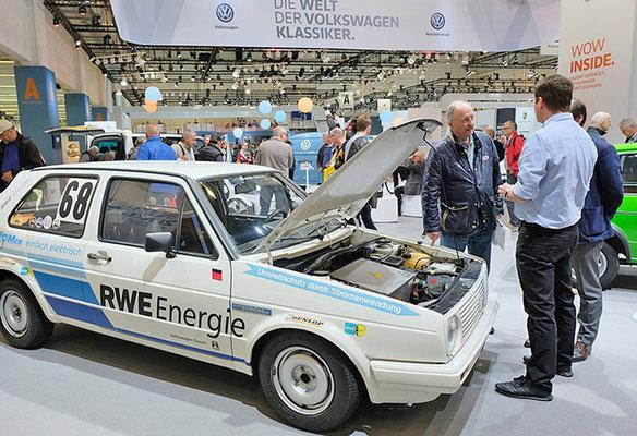 VW CLASSIC Messestand Techno Classica, E-Mobilität