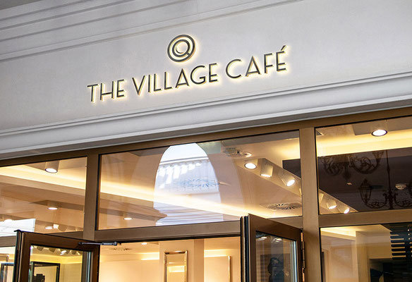"Logo ""Village Café"", UNION INVESTMENT REALESTATE"