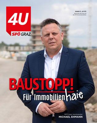 Cover für SPÖ Graz Magazin 4U - Foto: Michael Schnabl