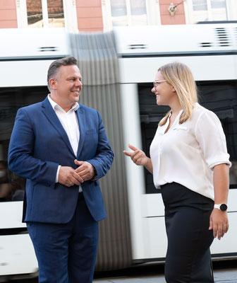 Michael Ehmann und Daniela Schlüsselberger - Foto: Michael Schnabl