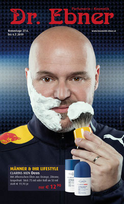 Monatsflyer Parfümerie Dr. Ebner - Coverfoto: Michael Schnabl