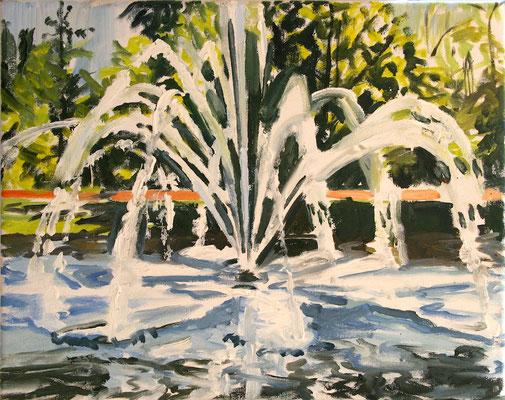 Vondelpark, 2016, Ölfarbe auf Leinen, 30x35 cm, Private Sammlung DE