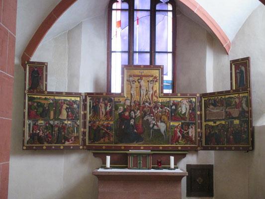 Passionstriptychon (15. Jahrhundert) in der Wahlkapelle