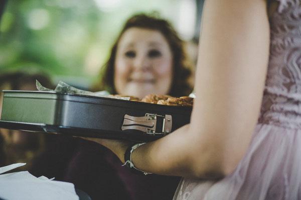 Kuchen Im Bus für die Hochzeitsgesellschaft