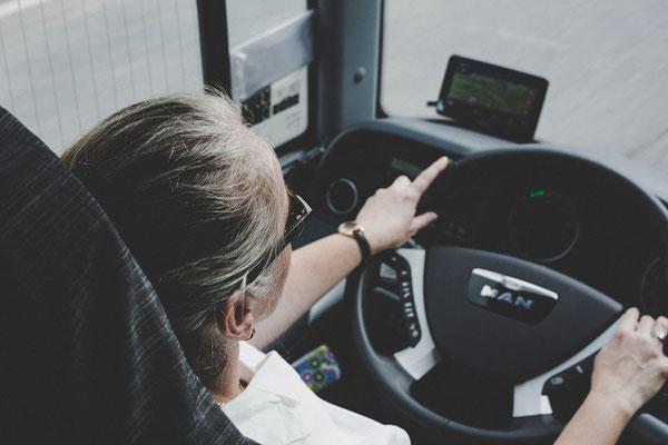 Die gutgelaunte Busfahrerin, die uns nach Kellinghusen gefahren hat