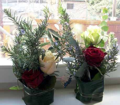 Rosen mit Kräuter