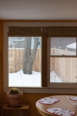 Blick aus dem Fenster: Schnee. Kanada 3/2014