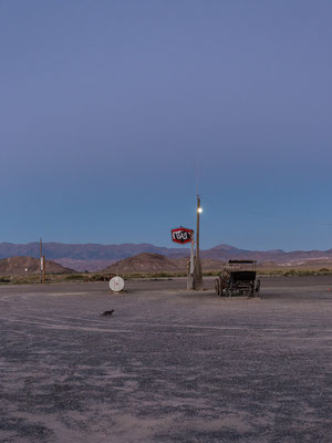 Seems like a haunted place... Middlegate Station. Nevada, USA 8/2014