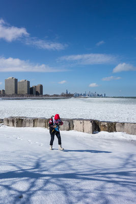 Windy city, snowy city. Chicago, USA 3/2014