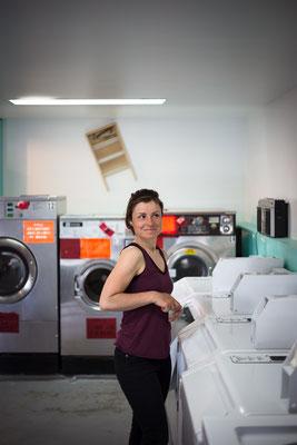 Volles Programm: Motelzimmer, heisse Dusche, Waschmaschine. Malartic, Quebec, Kanada 5/2014