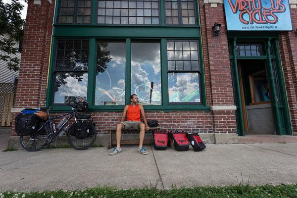 Fahrradkultur in Lafayette. Indiana, USA 6/2014