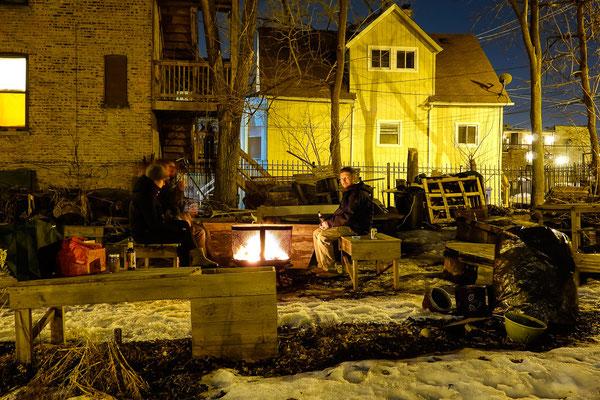 Auch im Winter im Garten. Chicago,USA 3/2014