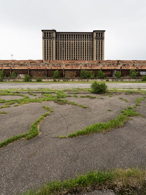 Michigan Central Station, the most famous ruin of Detroit. USA 6/2014