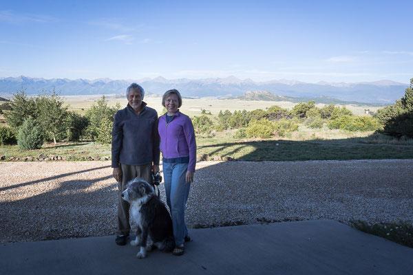 Unsere Warmshowers - Gastgeber in Westcliffe. Colorado, USA 8/2014