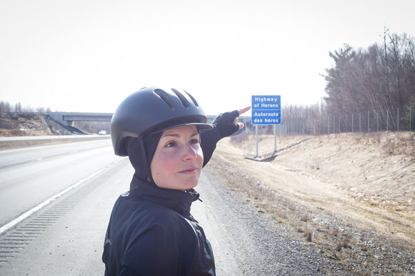 Highway of Heroes. New Brunswick, Canada 4/2014