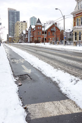 Toronto, fahrradfreundlich aber zu kalt zum fahren. Kanada 3/2014