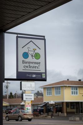 In Quebec sind die Radfahrer offiziell willkommen. Kanada 4/2014