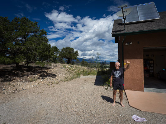 Unser Warmshowers - Gastgeber in Salida. Colorado, USA 8/2014