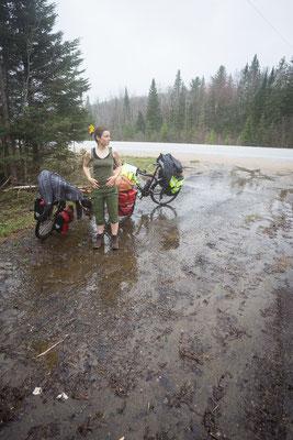 Weiter auf der Route Verte Nr. 2. Quebec, Kanada 5/2014