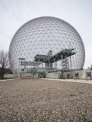 Die Biosphère von Richard Buckminster Fuller. Montreal. Quebec, Kanada 5/2014