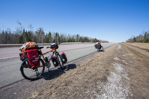 Riding on the Transcanada Highway. New Brunswick, Canada 4/2014