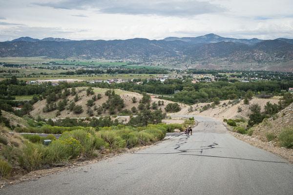 Auf dem Weg zu unserem Gastgeber: je steiler die Anfahrt, desto schöner die Aussicht. Salida. Colorado, USA 8/2014