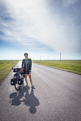 Auf dem TransAmerica Trail. Kansas, USA 6/2014