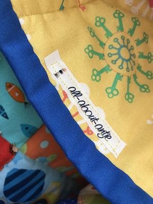 Baby Quilt Patchworkdecke Krabbeldecke Detail