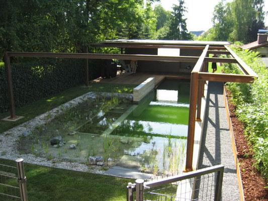 Piscina natural en mi jard n bionova piscinas naturales for Biopiscinas construccion