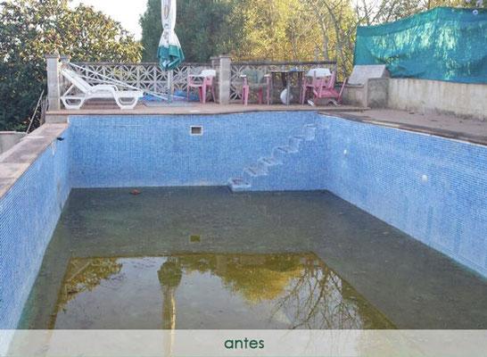 Convertir piscina en natural - antes