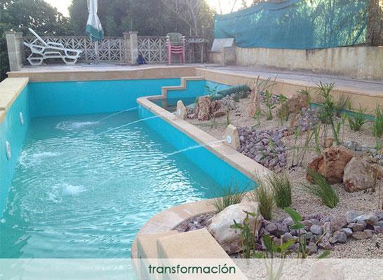 Convertir piscina en natural - transformación