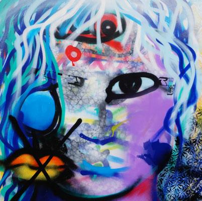 graffiti 100 x 100 cm