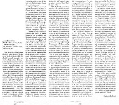 """""""Nuova Rivista Musicale Italiana"""" - luglio/settembre 2012"""