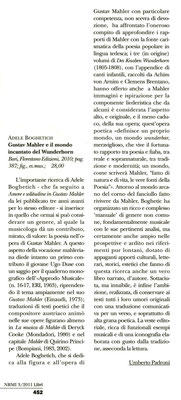 """""""Nuova Rivista Musicale Italiana"""" - luglio/settembre 2011"""