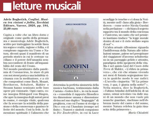 """Rivista """"Musica"""", Maggio 2020"""