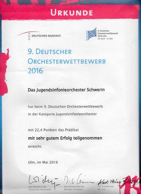 9. Deutscher Orchesterwettbewerb 2016