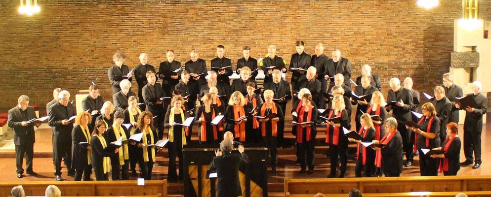 Te deum laudamus Cantemus Frauenstimmen Ehingen  & Silcherchor in Birkendorf St. Josef am 11. Juni 2016