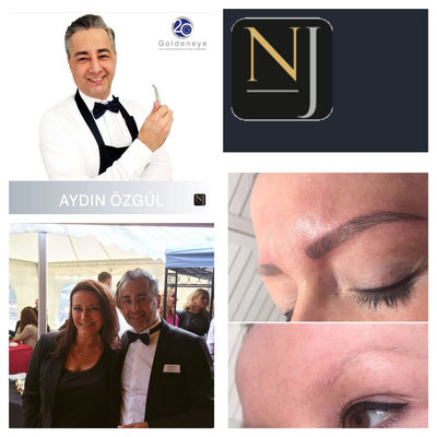 Nanoblading der Augenbrauen von Aydin Özgül Goldeneye + Angela Schmoll