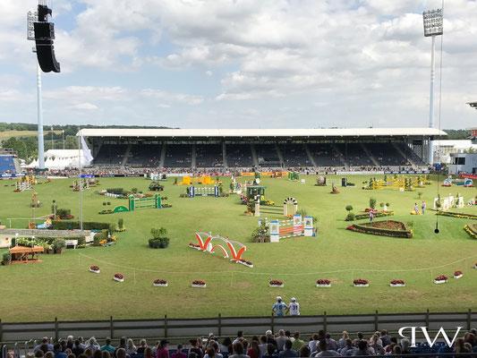 CHIO Aachen 2017 - Geländeprüfung Vielseitigkeit...die letzten Hindernisse stehen im Springstadion/Aachen - Turniergelände