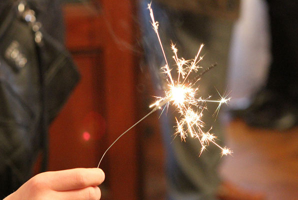 Sparkler in the hand - 2014
