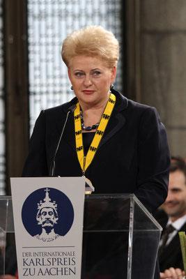 Dalia Grybauskaité - Karlspreisverleihung - Aachen 2013
