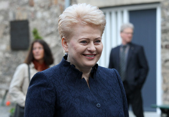 Dalia Grybauskaité (litauische Präsidentin) - Karlspreisverleihung - Aachen 2015
