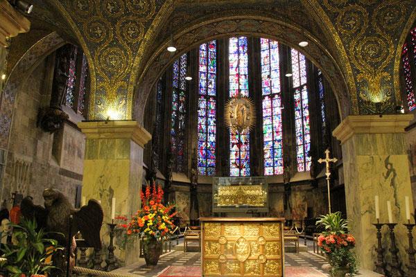 Blick in die Chorhalle - Aachener Dom 2015