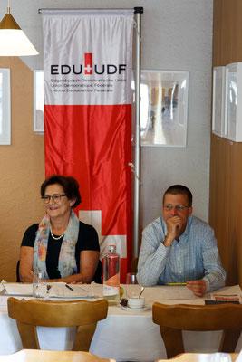 Die beiden amtsjüngsten Vorstandsmitglieder: Doris Gasser und Andreas Schellenberg