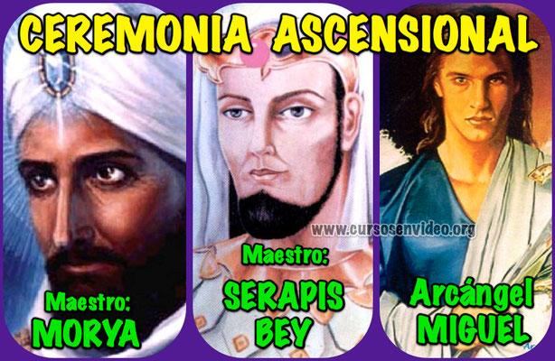 Ceremonia ascensional con Moria, Serapis Bey y el Arcángel Miguel